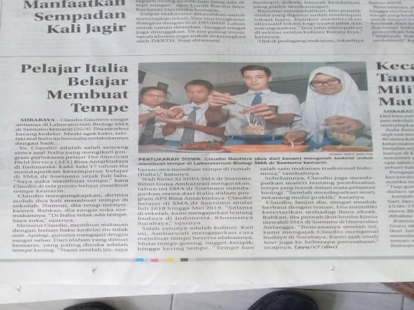 Pelajar Italia belajar membuat tempe