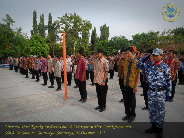 Peringatan hari kesaktian Pancasila dan Hari batik
